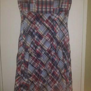 Ann Taylor size 2 plaid halter dress
